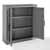 Crosley Furniture Tara Wall Cabinet, Vintage Gray Finish, 23-3/4''W x 8''D x 26''H