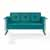 Crosley Furniture Bates Collection Outdoor Metal Sofa Glider in Turquoise, 65-3/4''W x 28''D x 32-1/2''H