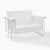 Crosley Furniture Bates Collection Outdoor Loveseat Glider in White, 48-3/4''W x 28''D x 32-1/2''H