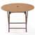 Wicker Folding Table
