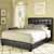 Crosley Furniture Andover Bed Set in Black Leatherette Finish