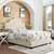 Crosley Furniture Preston Camelback Upholstered Queen, Cr�me Linen Finish