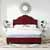 Crosley Furniture Preston Camelback Upholstered Queen, Merlot Microfiber Finish