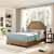 Crosley Furniture Loren Keystone Upholstered Bed Set, Camel Microfiber Finish