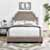 Crosley Furniture Loren Keystone Upholstered Bed Set, Oatmeal Linen Finish