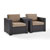 Set w/ Mocha Cushions - 2 Chairs, View 1