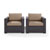 Set w/ Mocha Cushions - 2 Chairs, View 2