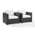 Set w/ White Cushions - 2 Chairs, View 1