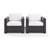 Set w/ White Cushions - 2 Chairs, View 2