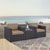 Set w/ Mocha Cushions - 2 Chairs & Coffee Table Lifestyle View