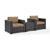 Set w/ Mocha Cushions - 2 Chairs & Coffee Table View 2