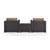 Set w/ Mocha Cushions - 2 Chairs & Coffee Table View 3