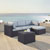 Set in Mist, Loveseat, Corner Chair, Ottoman, Coffee table, Lifestyle View