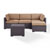 Set in Mocha, Loveseat, Corner Chair, Ottoman, Coffee table, View 1