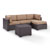 Set in Mocha, Loveseat, Corner Chair, Ottoman, Coffee table, View 2