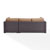 Set in Mocha, Loveseat, Corner Chair, Ottoman, Coffee table, View 3