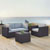 Set in Mist, 2 Corner Chairs, 1 Arm Chair, 1 Coffee Table, Lifestyle View
