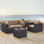Set in Mocha, 2 Corner Chairs, 1 Arm Chair, 1 Coffee Table, Lifestyle View