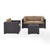 Set in Mocha, 2 Corner Chairs, 1 Arm Chair, 1 Coffee Table, View 1