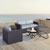 Set in Mist, 2 Corner Chairs, 1 Armchair & Firepit, Lifestyle View