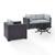 Set in Mist, 2 Corner Chairs, 1 Armchair & Firepit, View 2