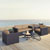Set in Mocha, 2 Armchairs, 2 Corner Chairs, & Firepit, Lifestyle View