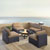 Set in Mocha, 4 Chairs, & Firepit, Lifestyle View