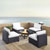 Set in White, 4 Chairs, & Firepit, Lifestyle View