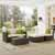 Crosley Furniture Sea Island 5 Piece Wicker Conversational Set, Gray Finish