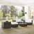 Crosley Furniture Sea Island 6 Piece Wicker Conversational Set, Gray Finish