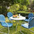 "Crosley Furniture Griffith Metal 40"" Five Piece Outdoor Dining Set"