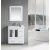 """Design Element Stanton 32"""" Single Sink Vanity Set with Wall Mirror and Drop-in Sink in White, 32"""" W x 18"""" D x 35"""" H"""