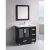 "Design Element Stanton 36"" Single Sink Vanity Set with Wall Mirror in Espresso, 36"" W x 18"" D x 35"" H"