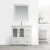 "Design Element Stanton 36"" Single Sink Vanity Set with Matching Wall Mirror in White, 36"" W x 18"" D x 35"" H"