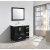 "Design Element Stanton 40"" Single Sink Vanity Set with Wall Mirror in Espresso, 40"" W x 18"" D x 35"" H"