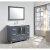 "Design Element Stanton 48"" Single Sink Vanity Set with Wall Mirror in Gray, 48"" W x 18"" D x 35"" H"