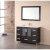 "Design Element Stanton 48"" Single Sink Vanity Set with Wall Mirror in Espresso, 48"" W x 18"" D x 35"" H"