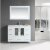 """Design Element Stanton 48"""" Single Sink Vanity Set with Wall Mirror and Drop-In Sink in White, 48"""" W x 18"""" D x 35"""" H"""