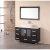 "Design Element Stanton 48"" Single Sink Vanity Set with Wall Mirror in Espresso, 48"" W x 20"" D x 35-1/2"" H"