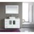 """Design Element Stanton 48"""" Single Sink Vanity Set with Wall Mirror and Vessel Sink in White, 48"""" W x 20"""" D x 35"""" H"""
