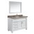 "White 48"" Crema Top Vanity Set w/ Wall Mirror"