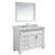 "White 48"" Carrera Top Vanity Set w/ Wall Mirror"