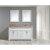 "White 61"" Crema Top Vanity Set w/ (2) Mirrors"