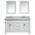 "White 61"" Carrera Top Vanity Set w/ (2) Mirrors"