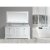 "Design Element Omega 72"" Double Sink Vanity Set with Wall Mirror in White and Carrera White Countertop, 72"" W x 22"" D x 36"" H"