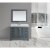 "Design Element Omega 48"" Single Sink Vanity Set with Wall Mirror in Gray and Carrera White Countertop, 48"" W x 22"" D x 36"" H"