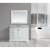 "Design Element Omega 48"" Single Sink Vanity Set with Wall Mirror in White and Carrera White Countertop, 48"" W x 22"" D x 36"" H"