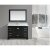 "Design Element Omega 54"" Single Sink Vanity Set with Wall Mirror in Espresso and Carrera White Countertop, 54"" W x 22"" D x 36"" H"
