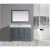 "Design Element Omega 54"" Single Sink Vanity Set with Wall Mirror in Gray and Carrera White Countertop, 54"" W x 22"" D x 36"" H"