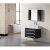"Design Element Portland 30"" Single Sink Wall Mount Vanity Set with Wall Mirror in Espresso and White Carrera Marble Countertop, 30"" W x 22"" D x 21"" H"